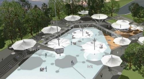 Eisbahn neu von Paul Schüler Architekt für INDOO Spielwerk